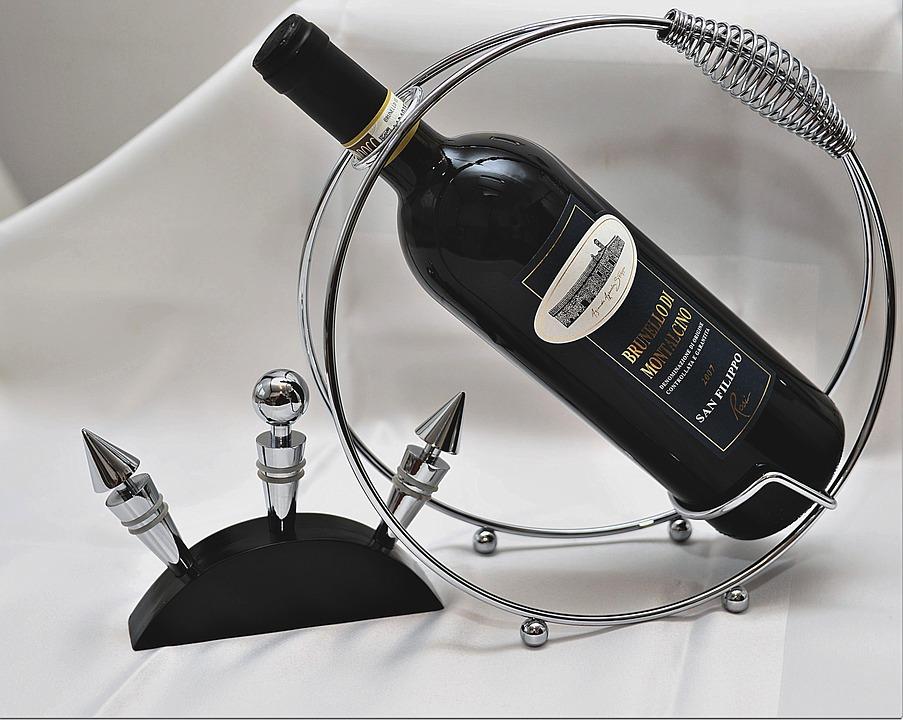 Weinflaschenhalter aus Metall